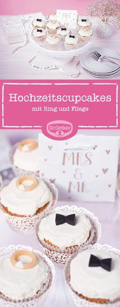 Hochzeits-Cupcakes: Einen Cupcake für Sie, einen Cupcake für Ihn - dieses Duo macht jedes Brautpaar glücklich.