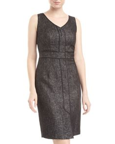Farren Tweed V-Neck Dress by Lafayette 148 New York at Last Call by Neiman Marcus.