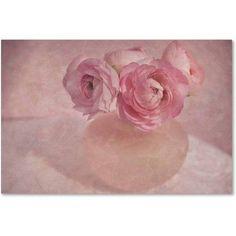 Trademark Fine Art 'Pink Ranunculus Bouquet' Canvas Art by Cora Niele, Size: 12 x 19, Multicolor