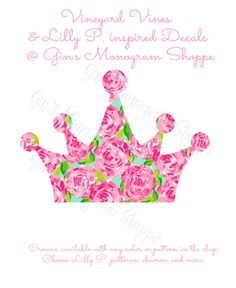 Lilly Pulitzer Crown Decal by GinnyMaries on Etsy