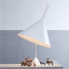 Moderne Tischleuchte Trichter Design Weiß