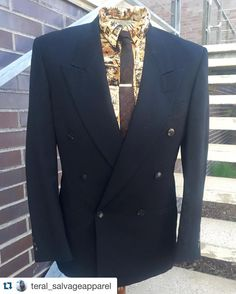 #Repost @teral_salvageapparel with @repostapp.  Bad prints on button ups ! #blazer #vintage #pierrecardin #vintagemenswear #vintagemenswearblogger #stylist #menswearstylist #shirt #doublebreastedjacket available @http://ift.tt/246lGZu #mensweardaily #menswear #mensfashion #tiebar #gents #gentsfashion #gentlemanstyle #gentleman #gentlemen #dapper #dapperman #dapperstyle by sondrup_designed