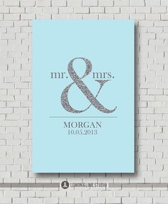 Personalized Unique Wedding Gift Silver and Sparkle Wedding Guest Book Wall Art Print - Any Color Available on Etsy, $35.00