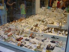 window shoe display in greece - Google Search