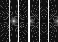 Вариант иллюзии искажения в трактовке Мак-Кея. Расходящиеся в виде лучей  линии фона изгибают наложенные на них параллельные прямые. 608416abfac