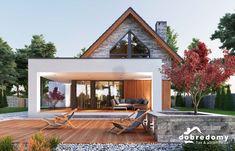 Marika - Dobre Domy Flak & Abramowicz Contener House, House Roof, Facade House, Bamboo House Design, Modern House Design, Modern Farmhouse Plans, Farmhouse Design, Building Design, Building A House