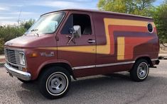 "As the seller states, ""everything on this van is straight from the The only thing it needs is side-pipes (well, in my opinion) to complete the look. Back when vannin' was the fad, a short wheelbase custom van. Gmc Vans, Vanz, Custom Vans, Time Capsule, Dieselpunk, Automobile, Trucks, Vehicles, Buses"