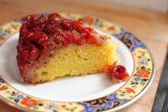 Sour cherry upside down cake
