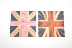 Lot 2 Serviettes en papier DRAPEAUX anglais : Serviettage, Décopatch par boutique-creative-by-c-dona