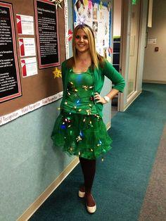 Sanatcon christmas tree outfit 1 green tutu and hot glued christmas costumes for adults google search christmas costumes for adultschristmas tree costumediy solutioingenieria Choice Image