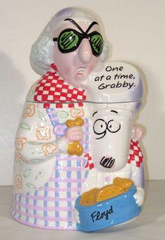 Collecting Maxine Cookie Jars from Hallmark: Maxine