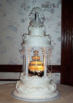 51 Best Fountain Wedding Cakes Images In 2019 Elegant Wedding