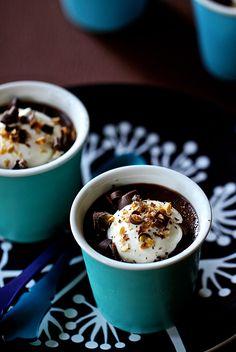 Chocolate, Coconut Milk, and Cardamom Pots de crème