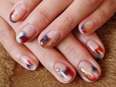 Fall watercolor #nailart - so pretty