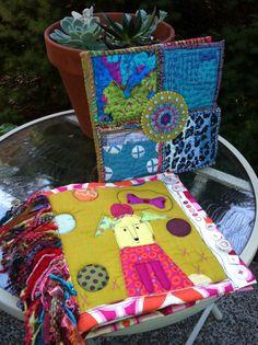 Fabric journals Suzanne Reynolds