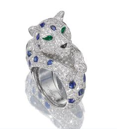 cartier biennale ring | Sapphire and diamond ring, 'Panthère', Cartier