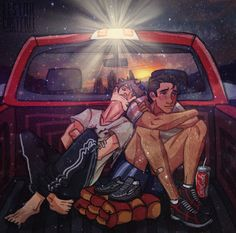 "Ari and Dante from ""Aristotle and Dante Discover the Secrets of the Universe"", by Benjamin Alire Sáenz - art by llstarcasterll on Tumblr."