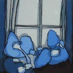 Painting Fon Klement - La fenetre