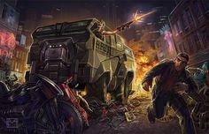 Artwork from Market Panic for Shadowrun 5