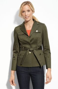 Bring on smart casual with a structured jacket and shiny buttons.  Omit the belt (and loops) for a less casual look. $169