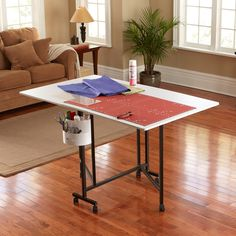 Sullivans Home Hobby Table - What We Like About This Hobby Table At just about counter height, this 36-inch hobby table is great for standing while at work or sitting on a sto...