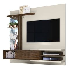 Painel Bancada Suspensa Para TV 55 Polegadas Frizz Off White Savana Madetec room Modern Tv Stand Modern Design, Tv Stand Designs, Tv Cabinet Design Modern, Modern Tv Room, Modern Tv Wall Units, Modern Living, Living Room Tv Unit Designs, Tv Wall Unit Designs, Bedroom Tv Unit Design