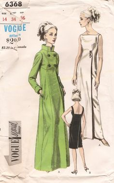I made this evening coat from grey moire lined with chartreuse taffeta, and made the dress chartreuse lace over taffeta over the bodice and the grey moire bottom. Gorgeous!! Vogue 6368