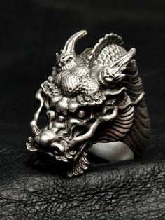Dual Flow [龍 Ring] (silver accessory / Silver925 / ring )