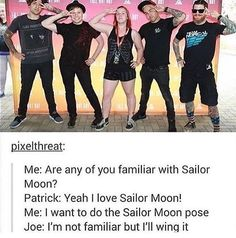 I'm not even a fan of Sailor Moon but I'm pretty sure Patrick is doing it perfectly as always