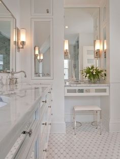 Small Bathroom With Built In Makeup Vanity Home Design Ideas, Pictures,  Remodel And Decor