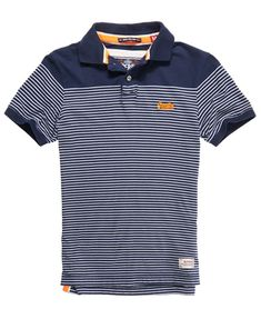 Superdry Dropped Breton Polo - Men's Polo Shirts