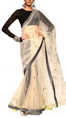 Trousseau dress: Aaima Lehenga Saree | Strandofsilk.com - Indian Designers
