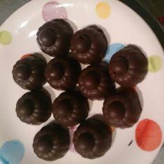 Cioccolatini homemade di puro fondente e scorze di arancia