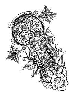 Floral Henna Pattern - mehndi