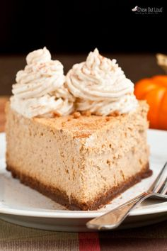 This easy pumpkin cheesecake is insanely amazing and has all the flavors you love about the Cheesecake Factory original. It's rich, dense, and perfectly creamy!