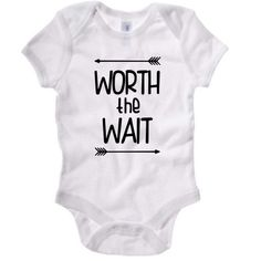 Worth The Wait baby bodysuit, baby shower gift, new mom gift, coming home outfit, cute baby gift, rainbow baby tee, baby t-shirt, new baby by ColeysCuteCreations on Etsy https://www.etsy.com/listing/463063527/worth-the-wait-baby-bodysuit-baby-shower
