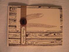 Geburtstagskarte Stampin up Holz- und Federnstempel