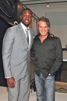 Dwayne Wade hangs with Dan Davidson Owner of #TheTempleHouse