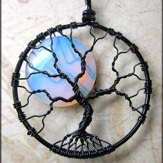 Tree wire jewelry design with moonstone