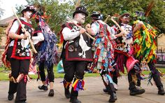 The Tenth Saltaire Festival is now well and truly underway. Today three groups of Morris dancers entertained as they danced around the vi. Morris Dancing, Village Fete, Christmas In England, English Christmas, English Village, Folk Festival, Cultural Events, Green Man, People Of The World