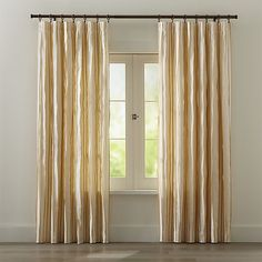 Kendal Yellow Curtains | Crate And Barrel