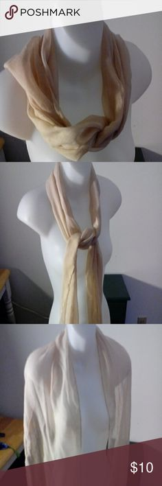 Sheer tan leightweight scarf Scarf, lightweight, tan, simple Accessories Scarves & Wraps