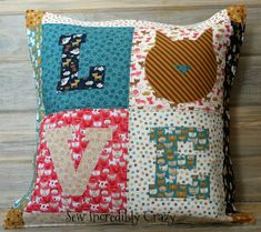 Kitty Love Pillow - Pattern on Craftsy Designed by Sew Incredibly Crazy Cat Pattern, Crossstitch, Your Heart, Sewing Ideas, Dog Cat, Applique, Quilting, Kitty, Embroidery