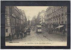 44194 . NANTES . LE BAS DE LA ROUTE DE RENNES . (recto/verso)  ANNEE  1918 .  ANIMATION . TRAMWAY . ARTAUD  ET NOZAIS