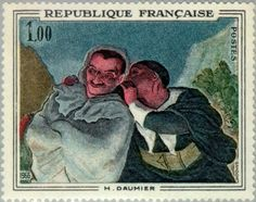 Stamp%3A%20Honor%C3%A9%20Daumier%20%C2%ABCrispin%20and%20Scapin%C2%BB%20(France)%20(Paintings)%20Yt%3AFR%201494%2CMi%3AFR%201567%2CSn%3AFR%201153%2CAFA%3AFR%201596%20%23colnect%20%23collection%20%23stamps