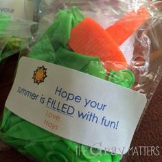 End of year friend gifts: Hope your summer is FILLED with fun!