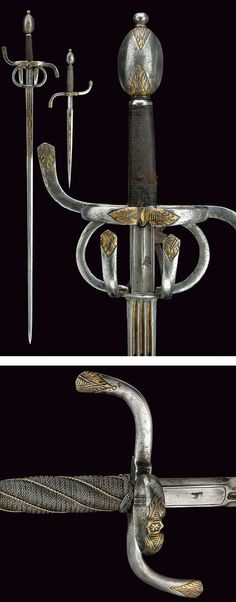 A set with rapier and left-hand dagger,dating: early 17th Century provenance: Italy.