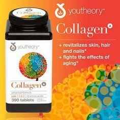 youtheory Collagen Advanced Formula, 390 Tablets #ToenailFungusVinegar Toenail Fungus Vinegar, Body Tissues, Hair Skin Nails, Greek Words, Top 5, Biotin, Blood Vessels, Amino Acids, Nail Care