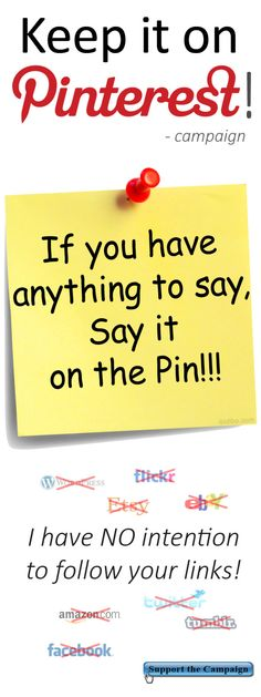 If you have anything to say, say it on the Pin! Keep it on Pinterest – Campaign