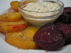 Roasted Beets with Kickin Horseradish-Mustard Sauce